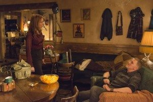 Daryl and Wendy Crowe in Audry's, discussing their living situation