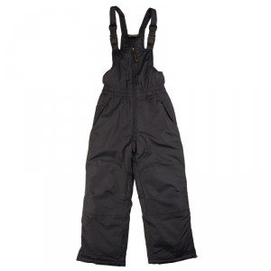 Children's snowpants with suspenders in black