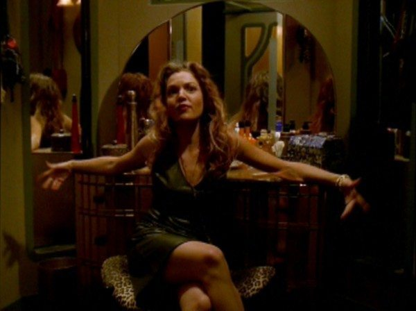 Glory sprawls across her make-up table. Image courtesy of 21st Century Fox and BuffyWorld.com