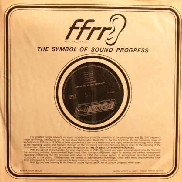 Auscultation of The Heart by J.B. Barlow and W.A. Pocock - FFRR sleeve