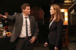 Booth and Brennan talking