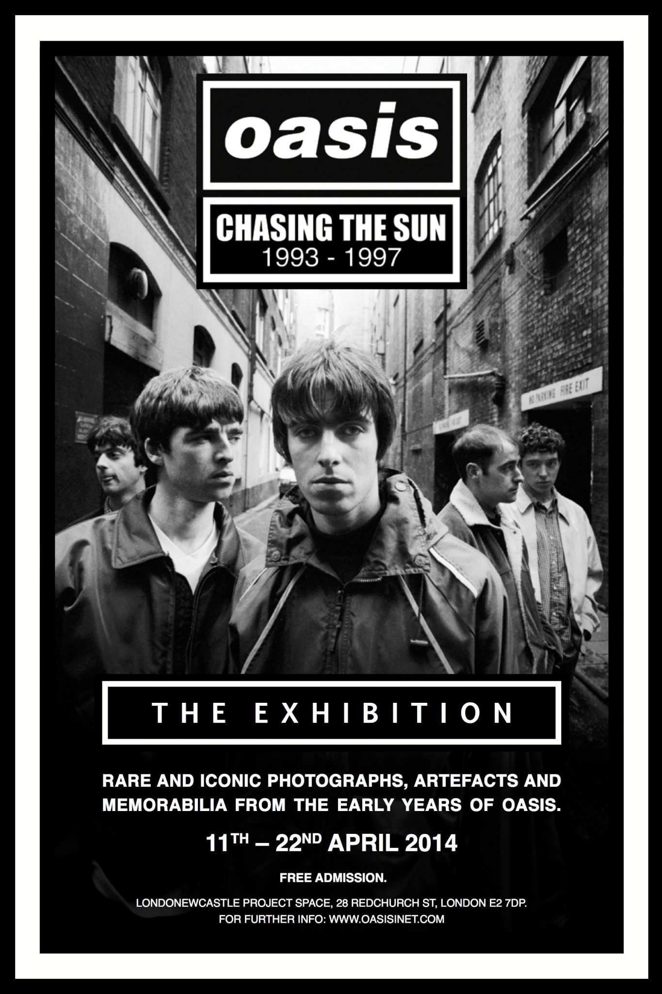 Oasis Exhibition Poster Chasing The Sun Persephone