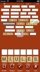 Screencap of a That Word game in progress