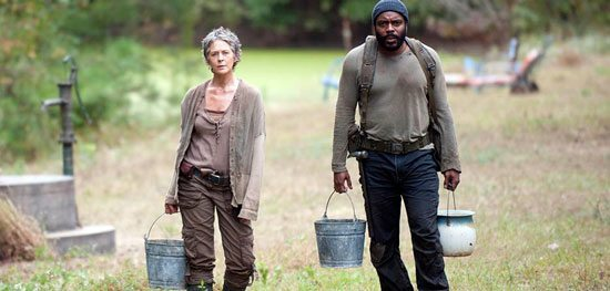 Ladies and gentleman, Melissa McBride and Chad Coleman, ACTORS. (Photo credit: AMC TV.)