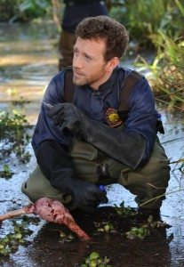 Jack Hodgins at the scene of the crime