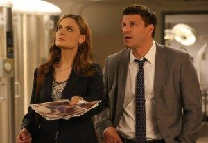 Booth and Brennan at the facility where the frozen bodies are kept