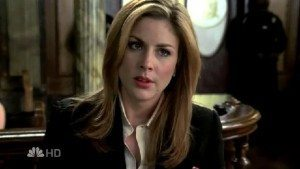 Screenshot of actress Diane Neal as Casey Novak on TV show Law & Order: Special Victims Unit.