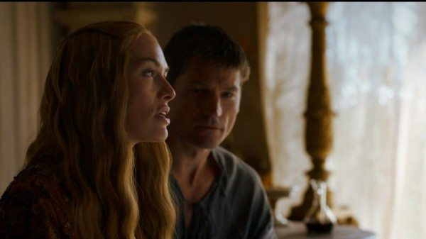 Cersei and Jaime on a couh