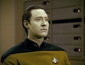 Screenshot of Brett Spiner as Data from Star Trek: The Next Generation