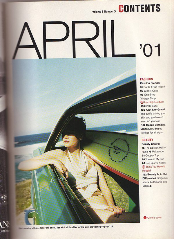 Jane Magazine April 2001 Contents pt 1