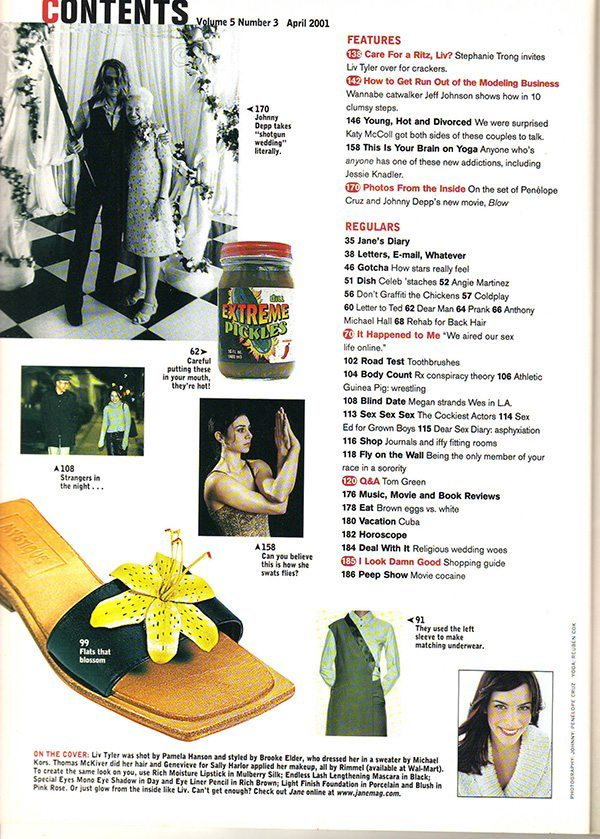 Jane Magazine April 2001 Contents pt 2