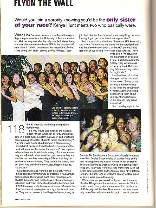 Jane Magazine April 2001 Feature