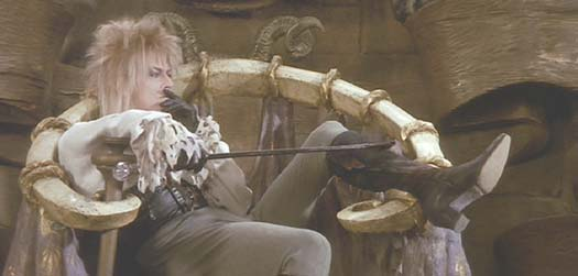 Image of David Bowie as Jareth the Goblin King from Labyrinth.