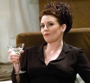 Screenshot of Megan Mullaly as Karen Walker from the TV show Will & Grace