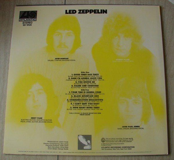 Led Zeppelin I (back cover)