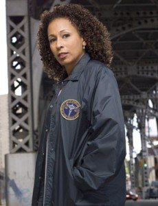 Photograph of actress Tamara Tunie as Melinda Warner on TV show Law & Order: Special Victims Unit