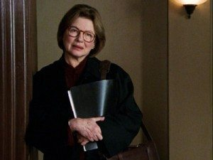 Screenshot of Dianne Wiest as Nora Lewin on TV show Law & Order.