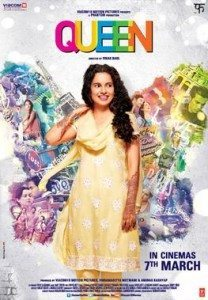 A movie poster showing an Indian woman in a yellow salwar kameez.