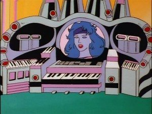 Screenshot of Synergy from the animated series Jem and the Holograms