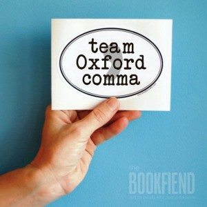 """Team Oxford Comma"" sticker"