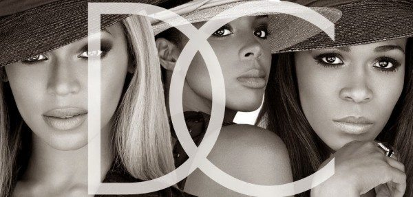 A black and white picture of Destiny's Child.