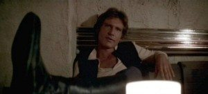Screenshot of Harrison Ford as Han Solo from the cantina scene of Star Wars: A New Hope