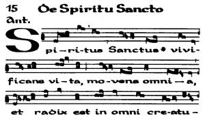 """Close up of Hildegard of Bingen's work """"De Spiritu Sancto"""""""