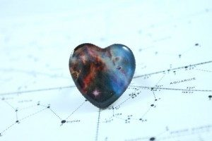 Carina Nebula Heart Shaped ring from The Science Boutique