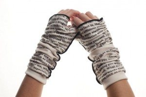 "From Storiarts, ""Pride and Prejudice"" writing gloves"