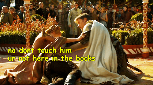 A Picture Of Cersei And Jaime Lannister Over Joffreys Body Captioned Dont Touch