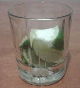 lime and sugar in a glass