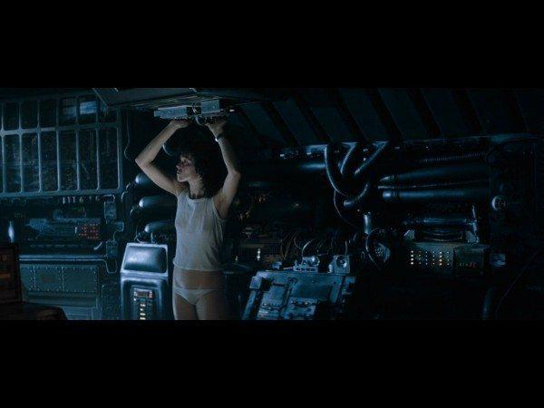 "A still image of Sigourney Weaver in ""Alien"""