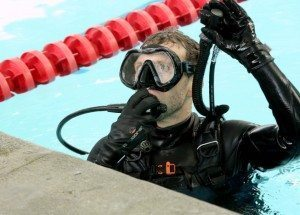 TJ Thyne in scuba gear