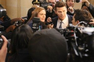 Booth and Brennan face reporters