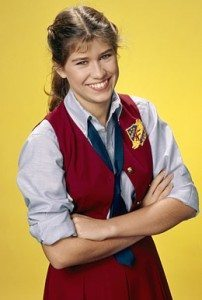 Photograph of actress Nancy McKeon as Jo Polniaczek on TV show The Facts of Life.