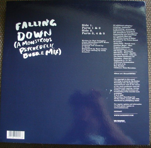 Oasis - Falling Down - Amorphous Androgynous remix (back)