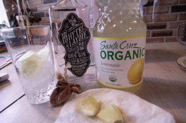 Spicy Gin Cucumber Lemonade - ingredients