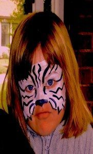 Face painted kid