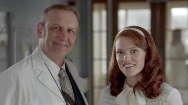 Lovely ginger Sarah, and her dad, the doctor