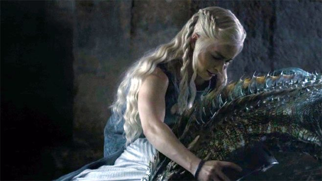 Dany chains her dragon