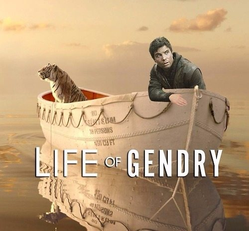 Life of Pi parody: Gendry in a boat with a tiger
