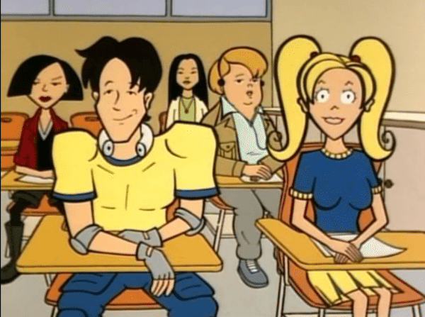 Kevin and Brittany in class.