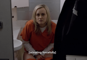 Piper Chapman peeing
