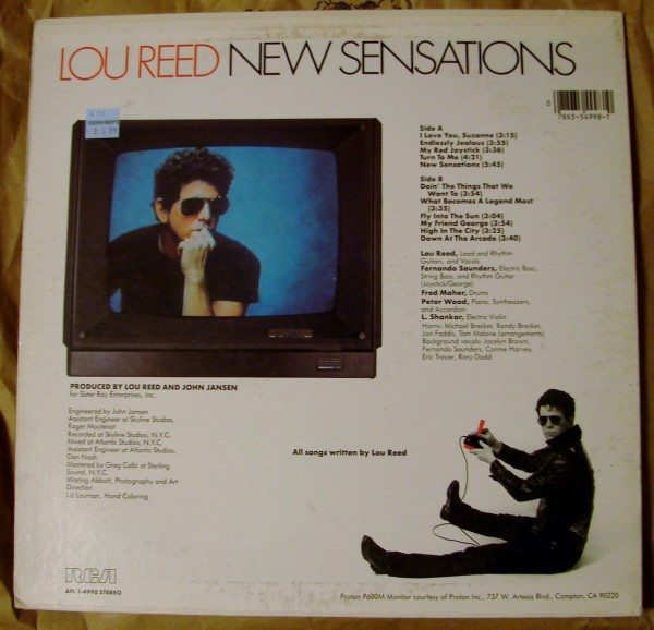 Lou Reed - New Sensations (back)
