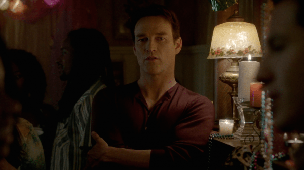 "A screenshot of  Stephen Moyer as Bill in ""True Blood."""