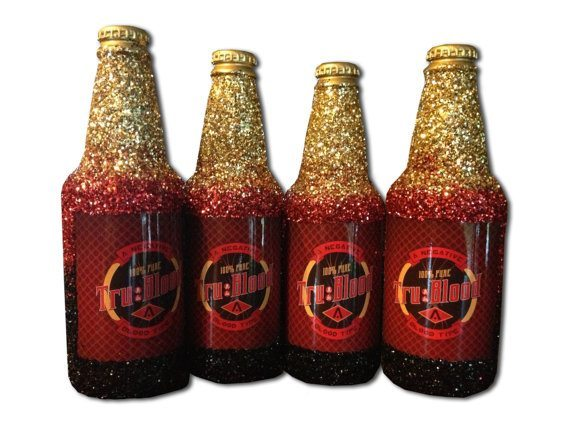 Glittery Bottles of True Blood
