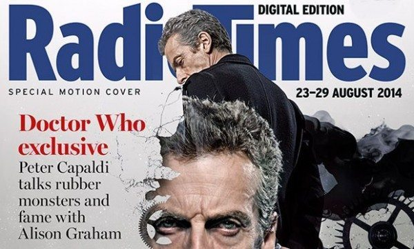 Peter Capaldi stars in animated Doctor Who Radio Times cover on iPad newsstand app