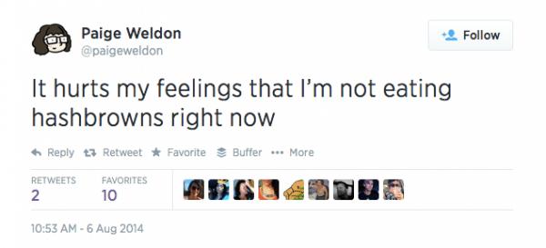 Tweet from Paige Weldon