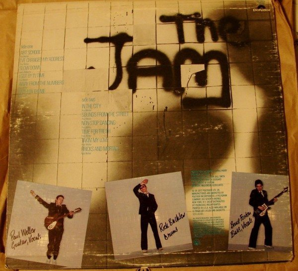 The Jam - In The City (back cover)