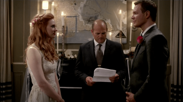 Hoyt and Jessica exchange vows